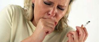 Кашель курильщика – симптомы и лечение