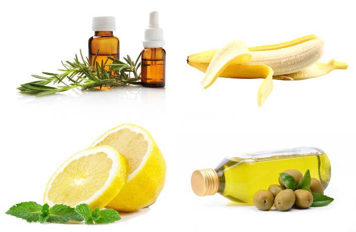 маска для волос - оливковое масло лимон банан