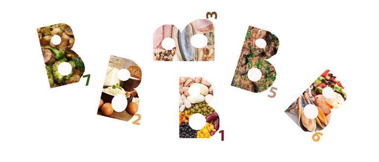 Витамины группы B в продуктах питания и таблетках